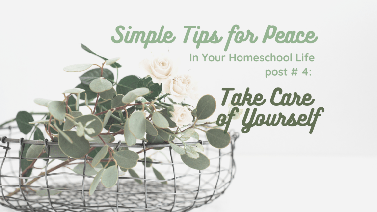 Simple Tips for Peace In Your Homeschool Life, part 4