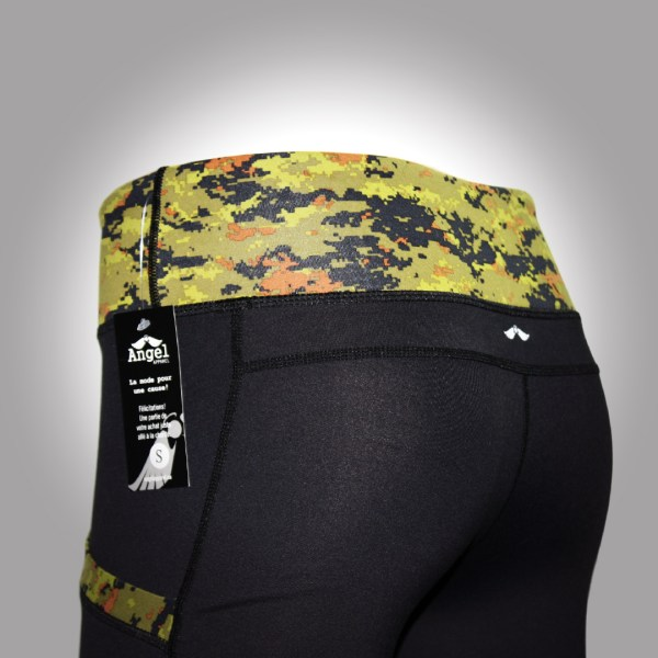 Black and Camo Straight Leg Legging