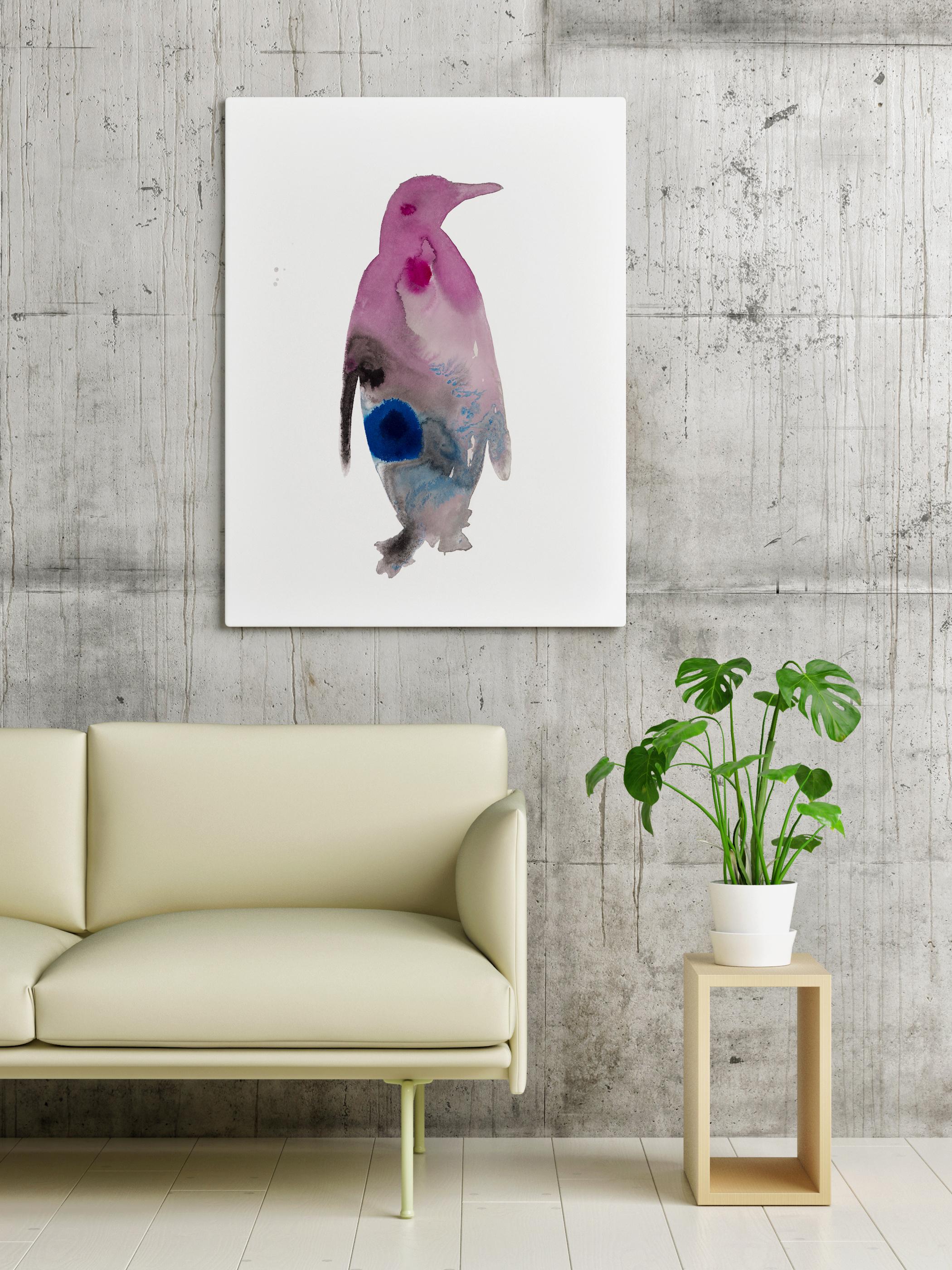 Pinguïn vogel abstract animal dieren print, Natuurlijk Angelart,
