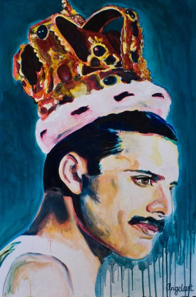 limited edition Giclée Print Freddie Mercury Angela Peters beeldende kunst