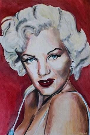 Portretten, portret schilderijen Angela Peters Marilyn Monroe