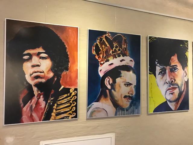 limited edition Giclée Print Jimi Hendrix, Freddie Mercury, Herman Brood. Angela Peters beeldende kunst