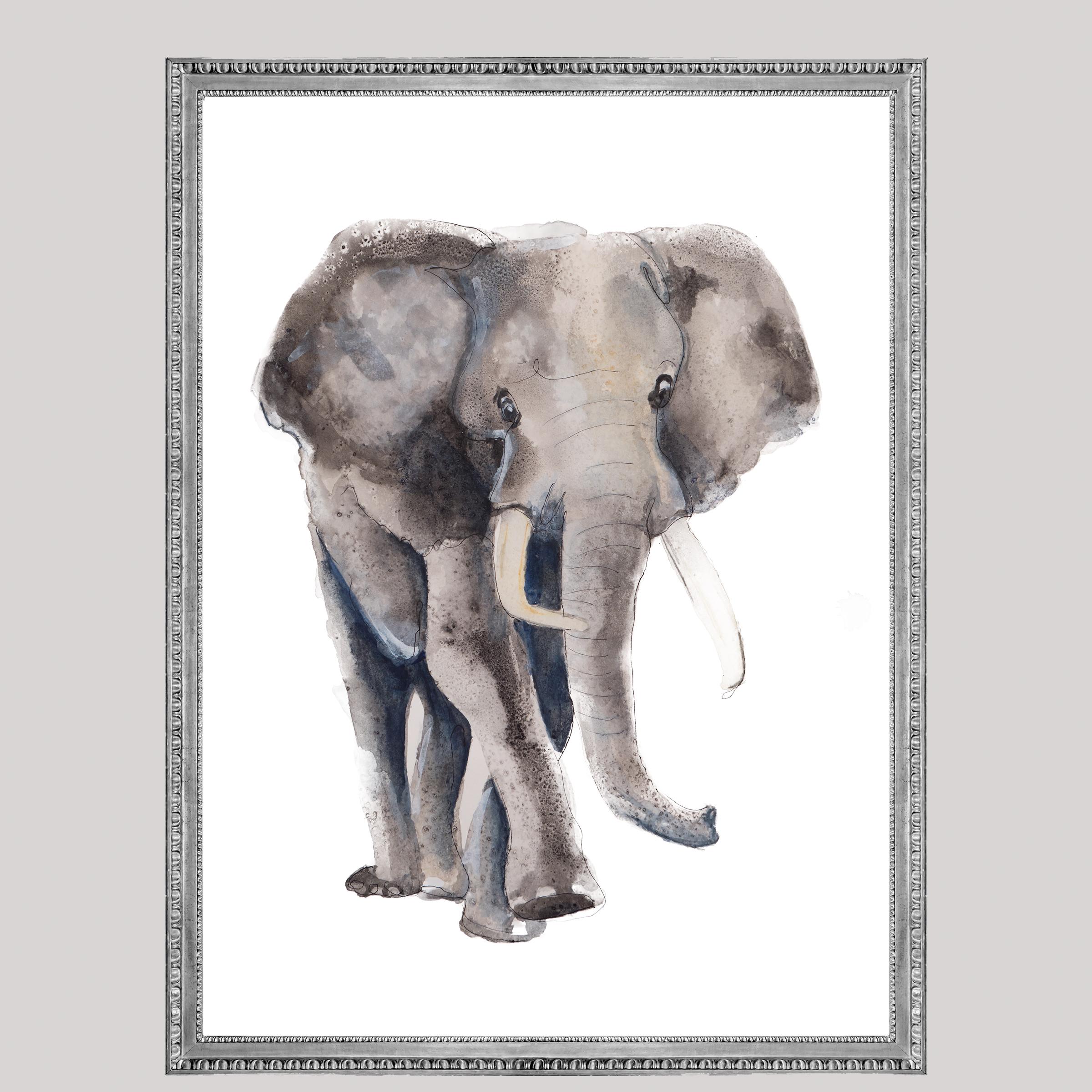 Kauw, vogel dieren print, Natuurlijk Angelart, Angela Peters. Illustratie Ink aquarel