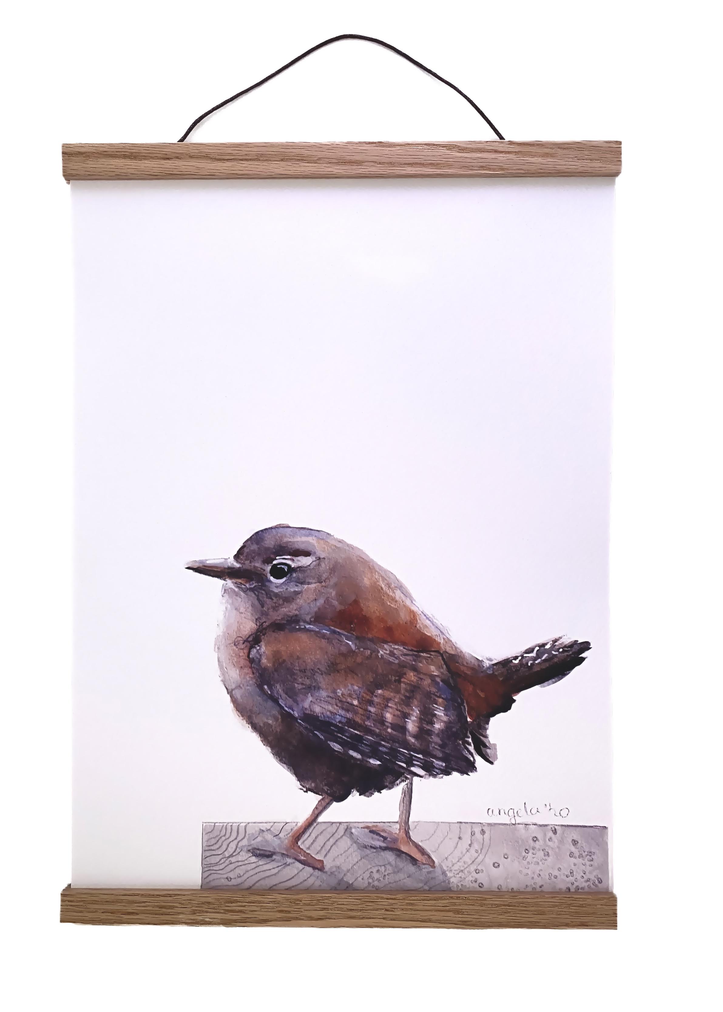 eiken houten poster hangers - poster frame - poster houder Angelart Kunst&Zo, Angela Peters