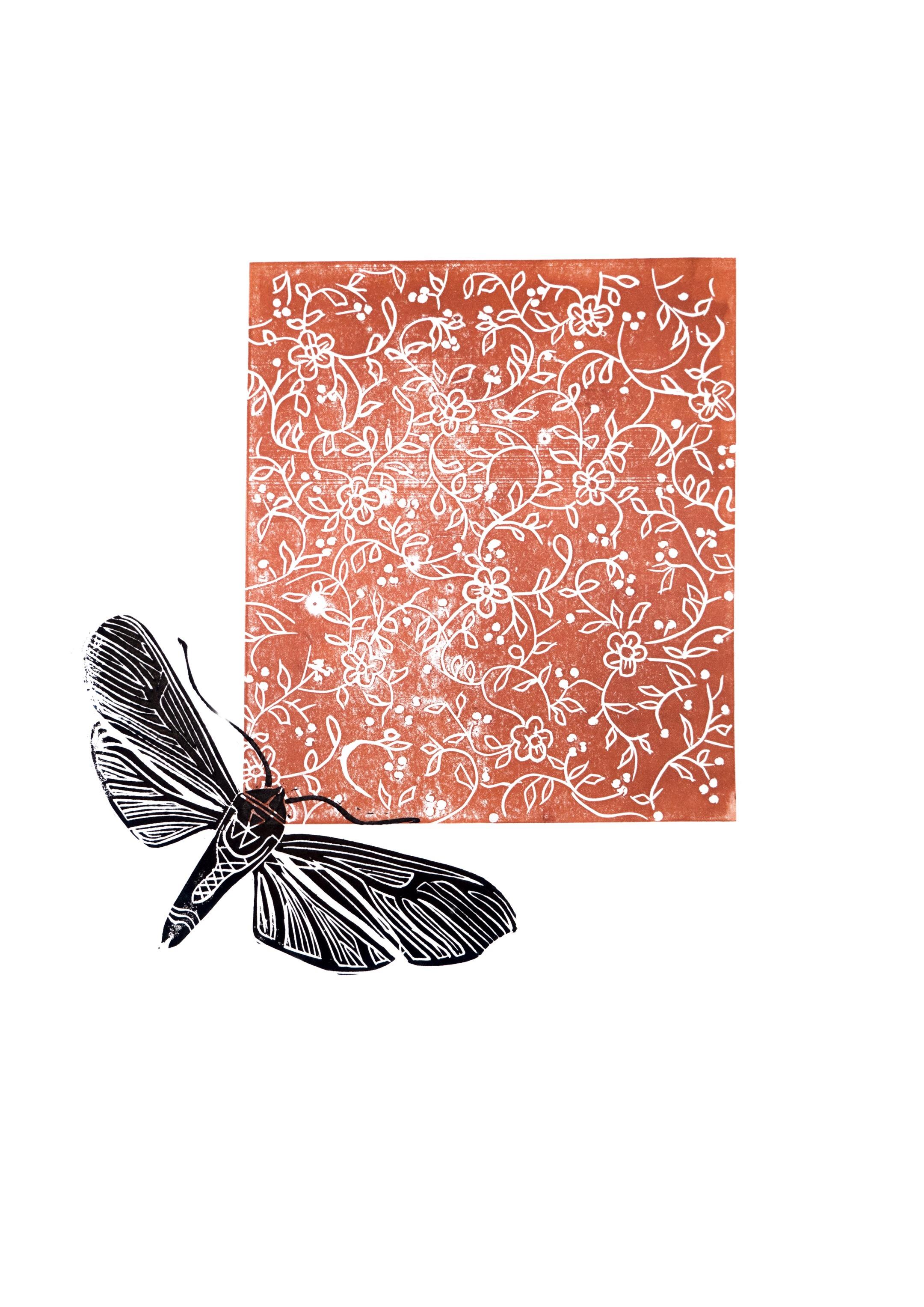 Twee kleuren Lino druk angelapeters bij Angelart Kunst&Zo