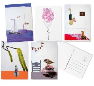 Angela Peters illustratie, collage kaarten Angelart Kunst&zo kunst