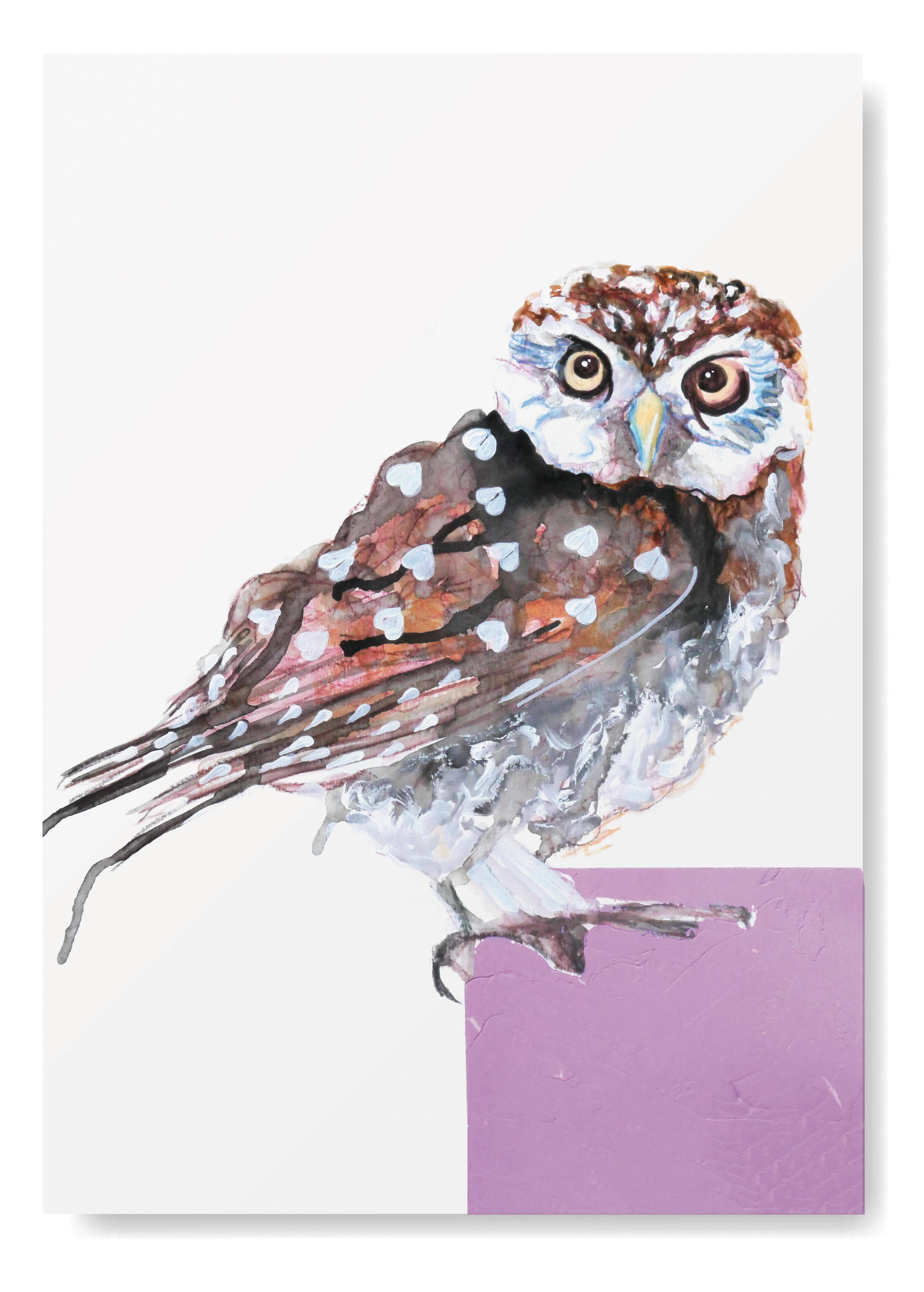 Angela Peters illustratie, dieren kaarten Angelart Kunst&zo kunst poster uil