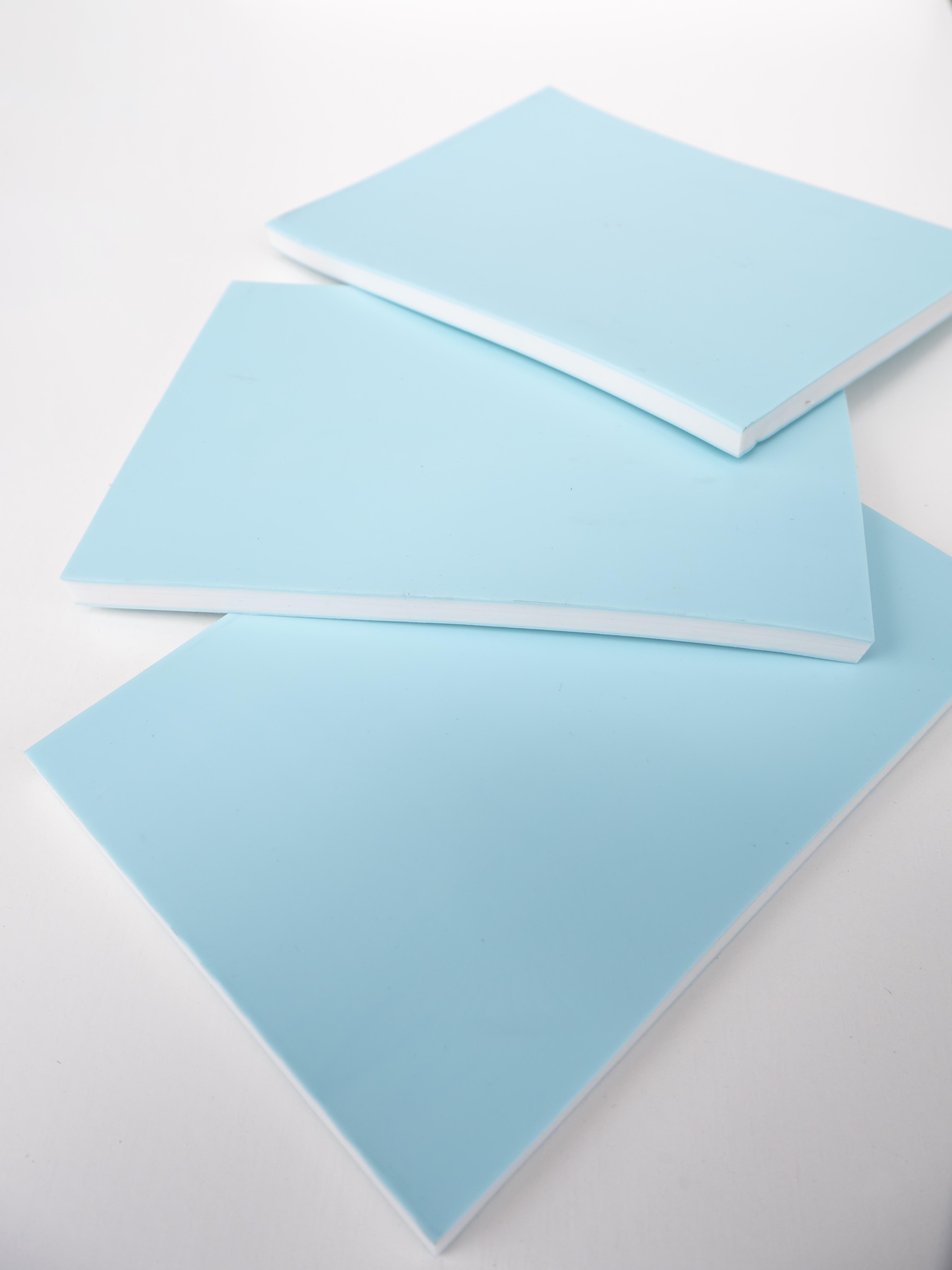 Rubber Stempel Blokken á 10.5 x 14.5 cm - Gekleurde Sandwich Stempel Rubber - Carving Blok voor DIY Stempel Mint Groen Natuurlijk Angelart 3 Rubber Stempel Blokken