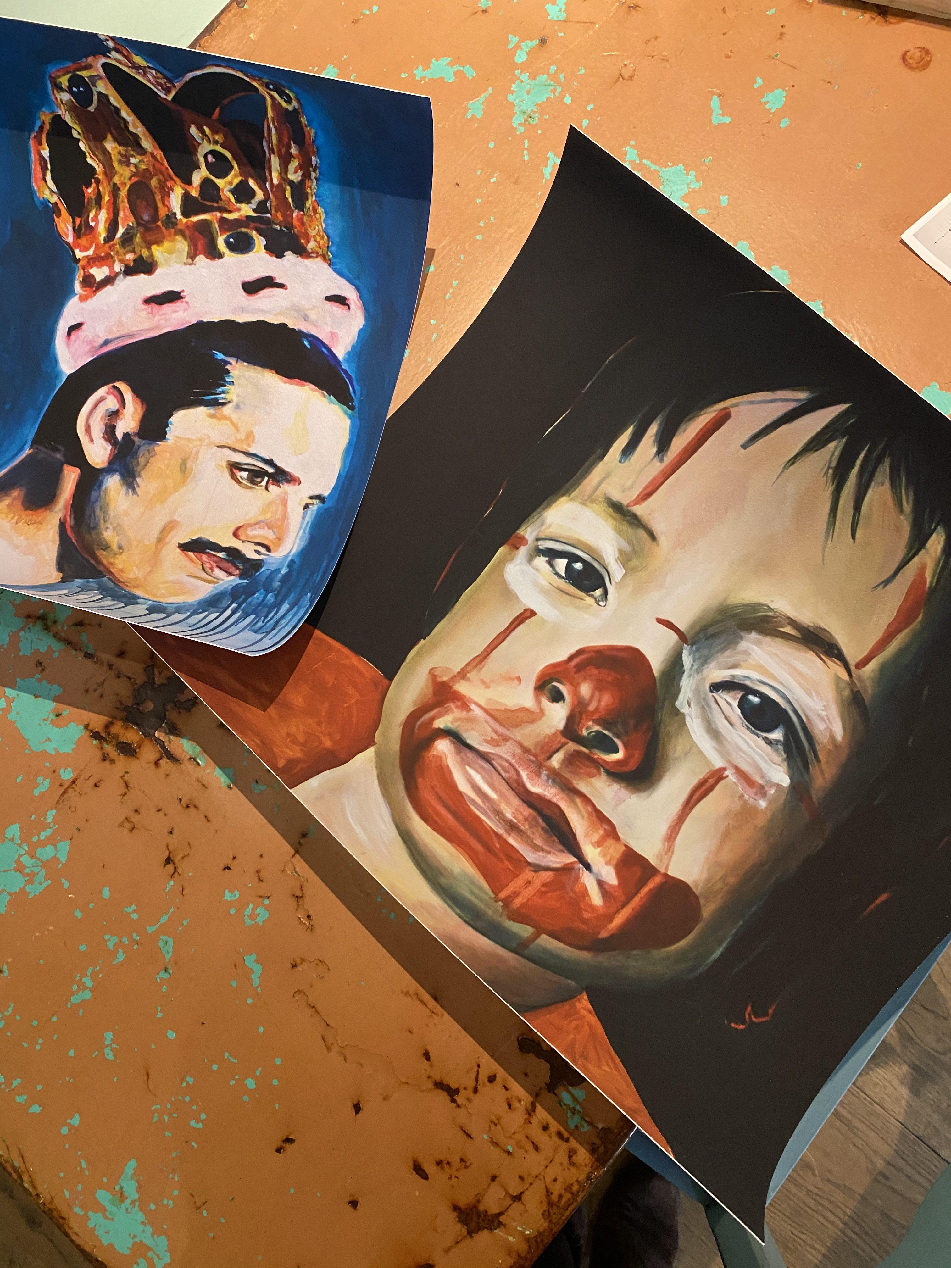 Clown giclee print Angela Peters, Angelart Kunst en zo galerie Hattem