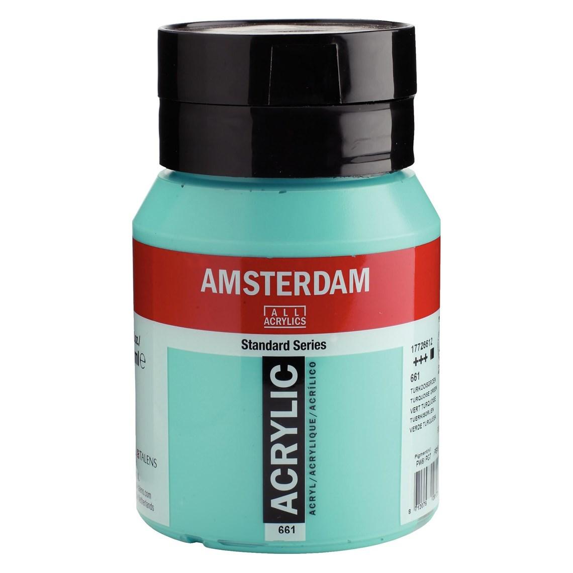 Amsterdam acrylverf Turkooisgroen 661 Angelart Kunst en zo