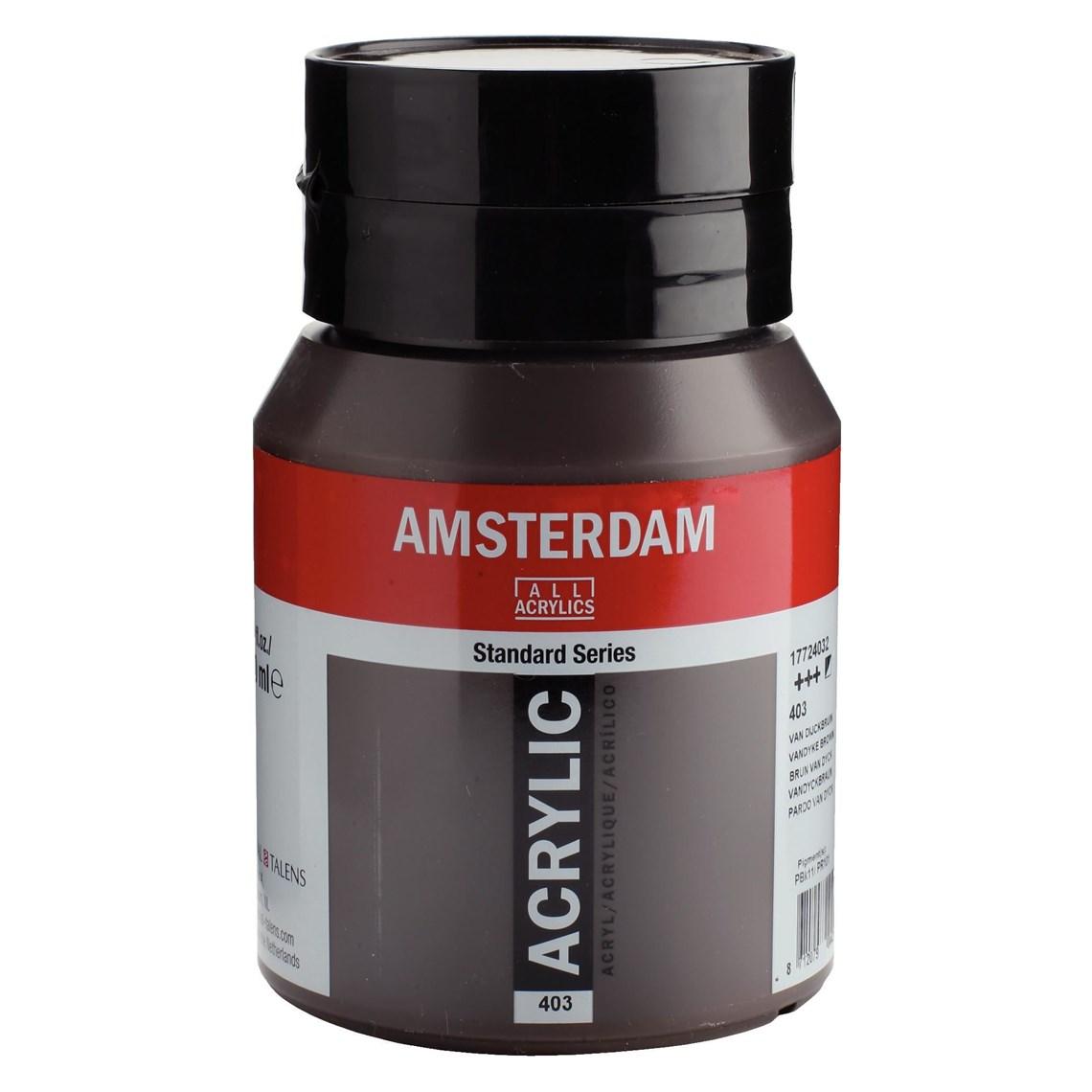 Amsterdam acrylverf Van Dijckbruin 403 Angelart Kunst en zo