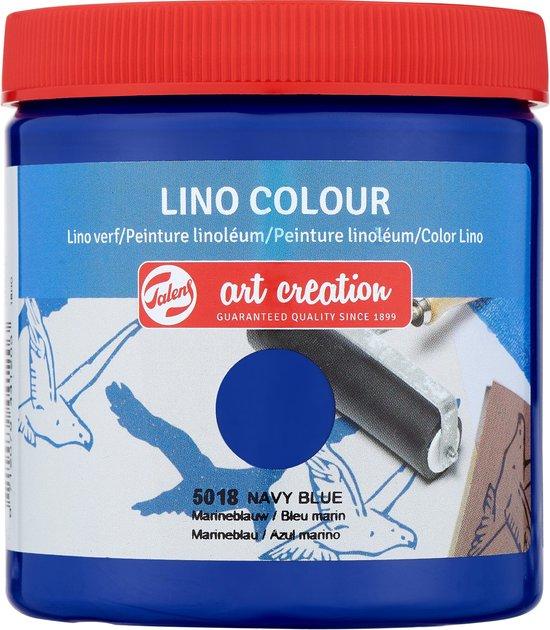 Linoverf marineblauw Angelart Kunst en zo