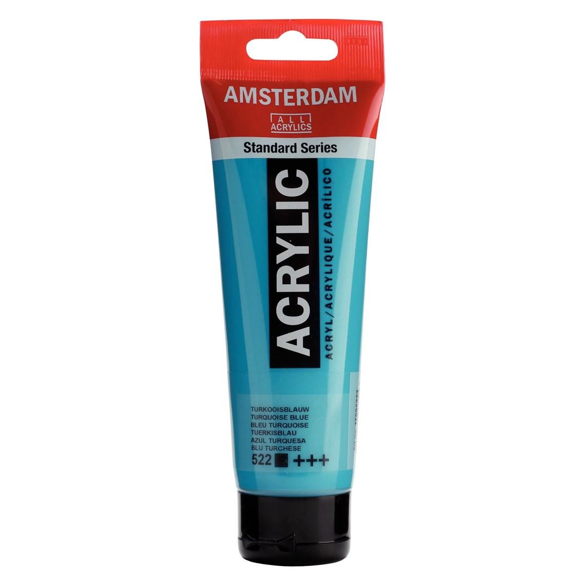 Amsterdam acrylverf Turkooisblauw 522