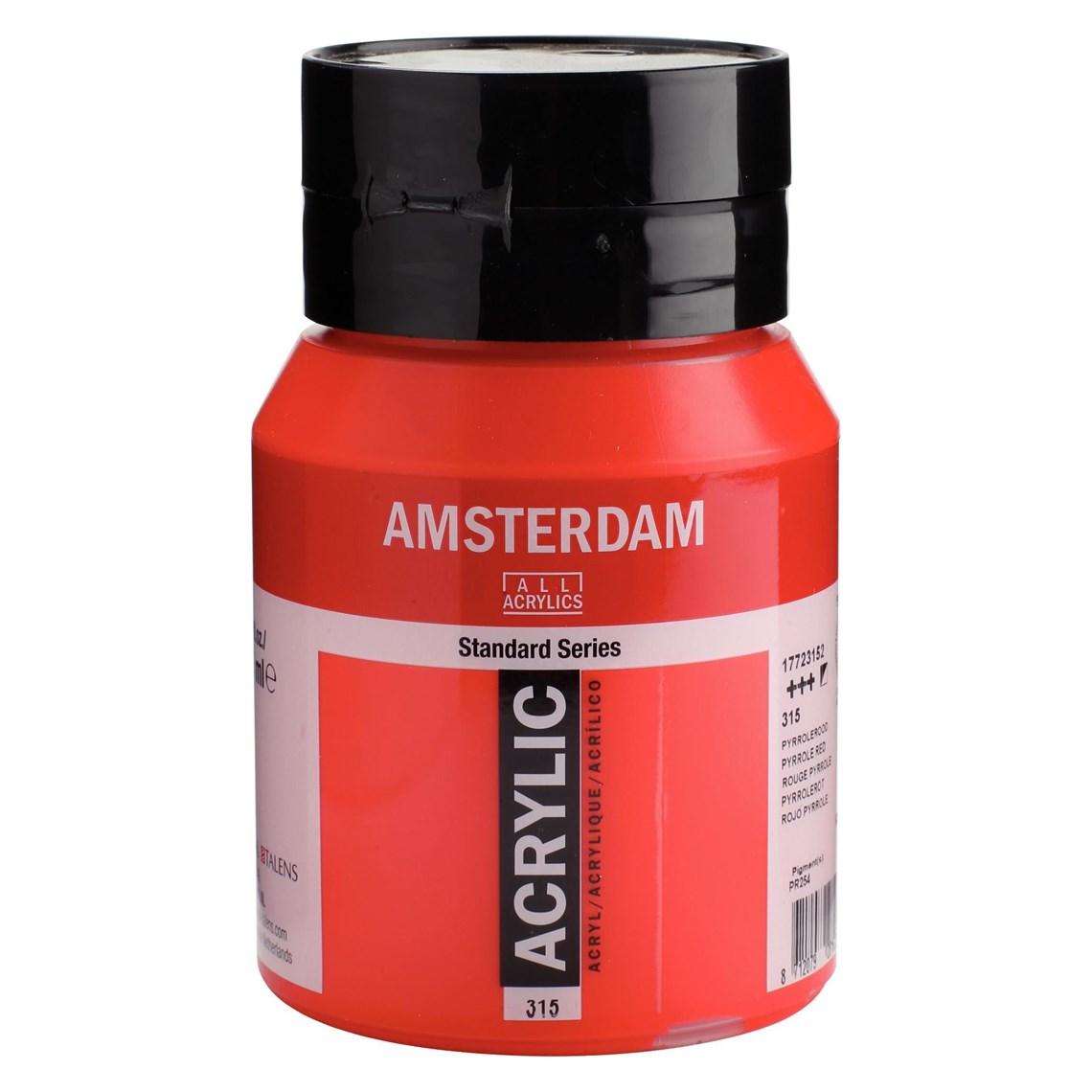 Amsterdam acrylverf Pyrrolerood 315 Angelart Kunst en zo
