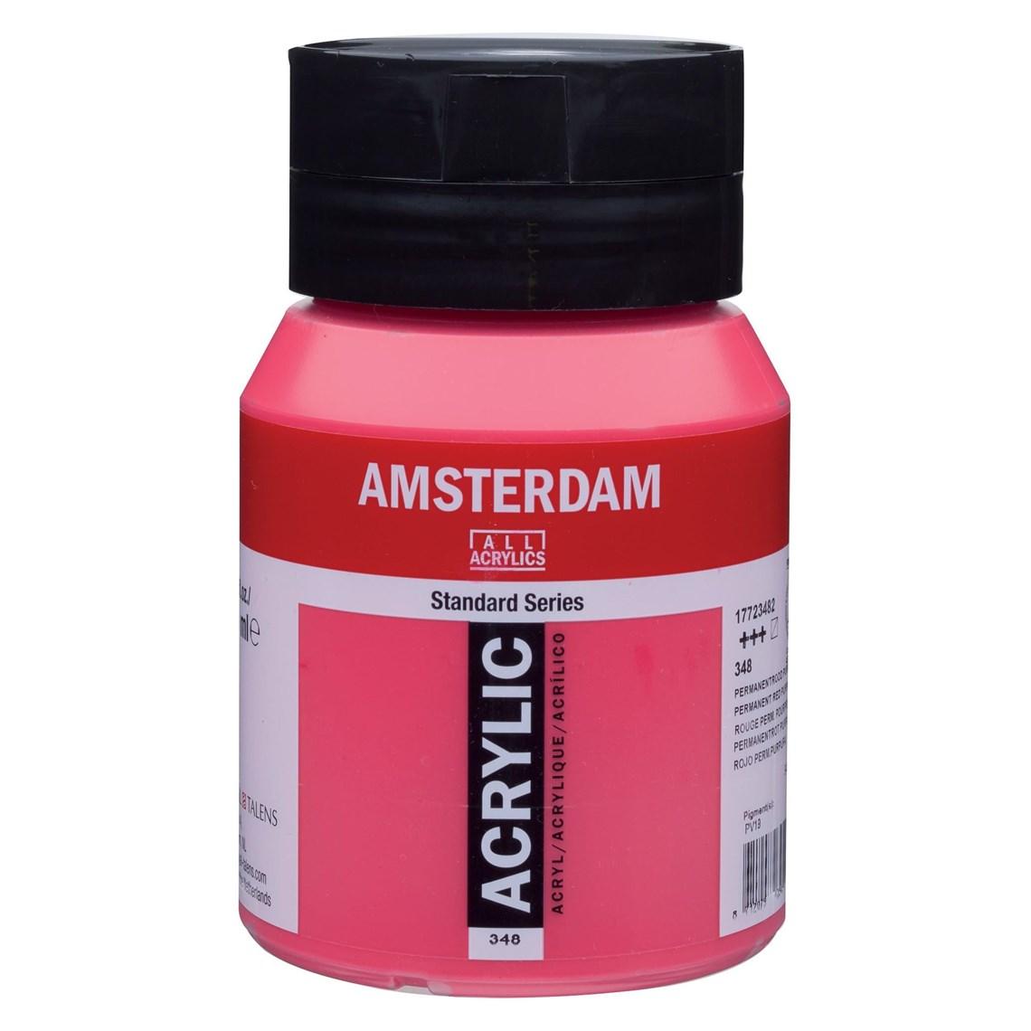 Amsterdam acrylverf Permanentrood purper 348