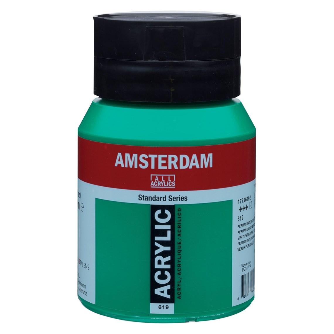 Amsterdam acrylverf Permanentgroen donker 619 Angelart Kunst en zo