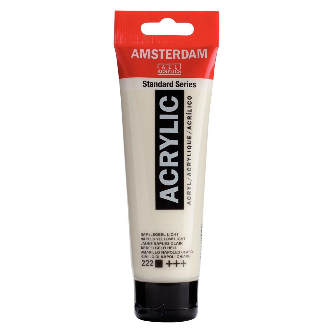 Amsterdam acrylverf Napelsgeel licht 222 Angelart Kunst en zo