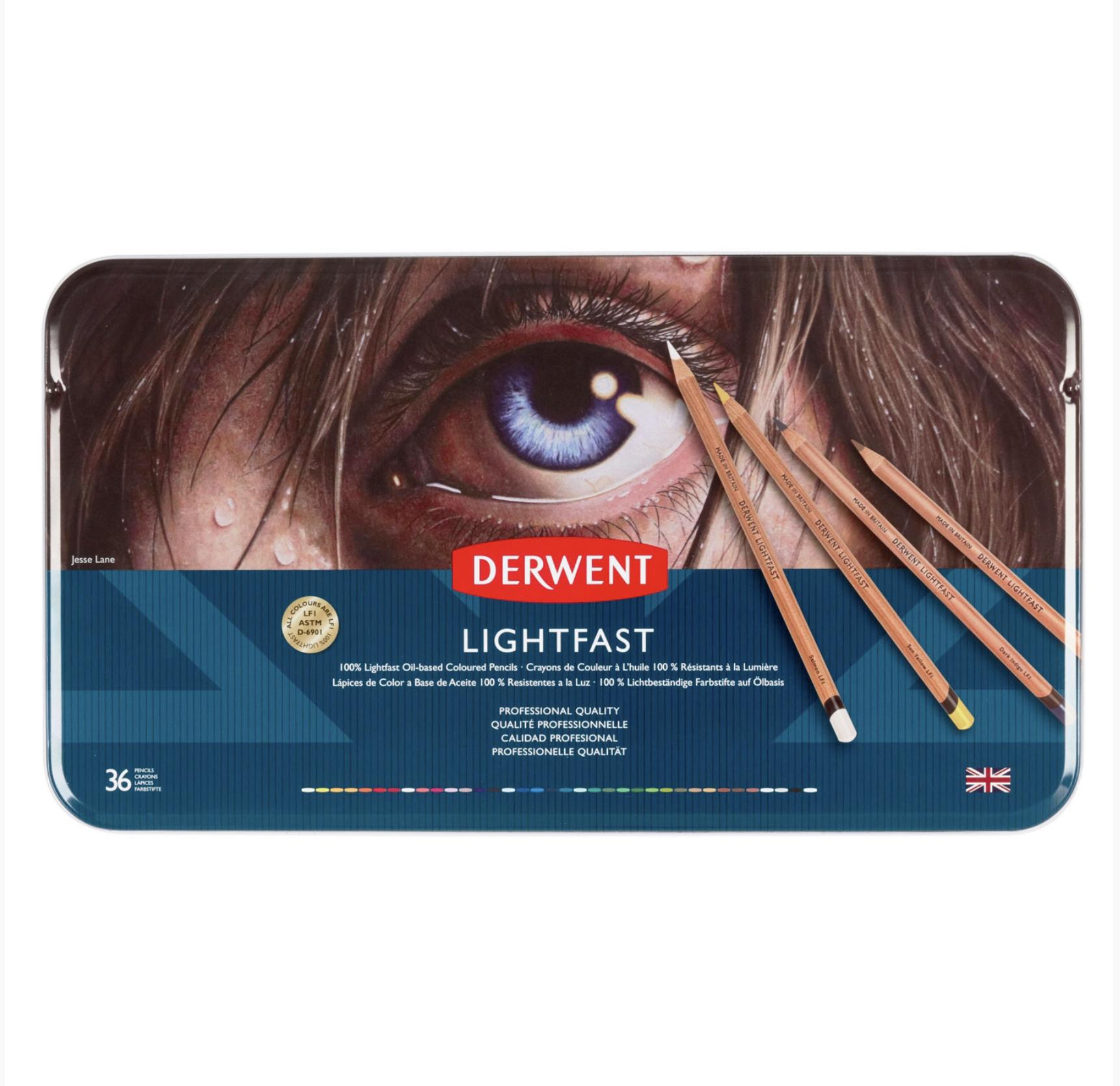 Potloden op oliebasis - Lightfast - set van 36 - Derwent