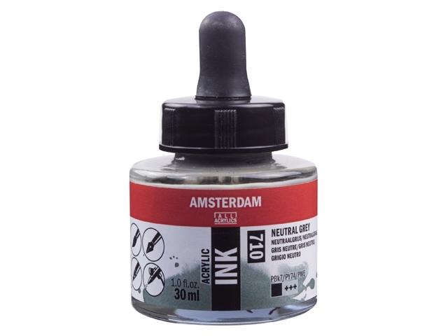 Acryl inkt Neutraalgrijs 710 - Amsterdam acrylic