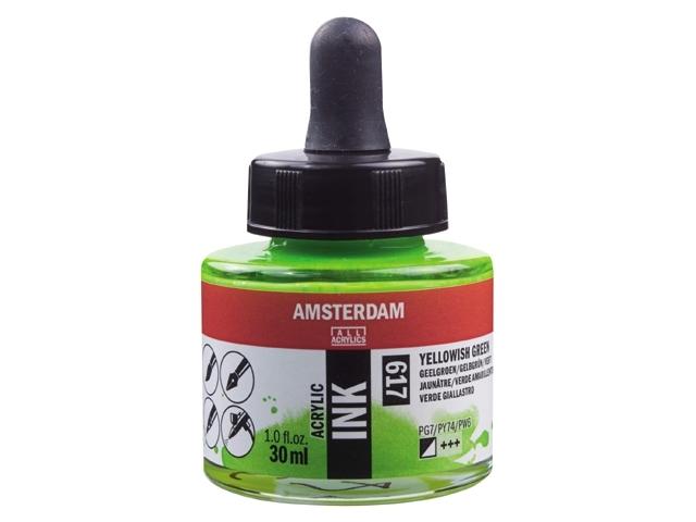 Acryl inkt Geelgroen 617 - Amsterdam acrylic