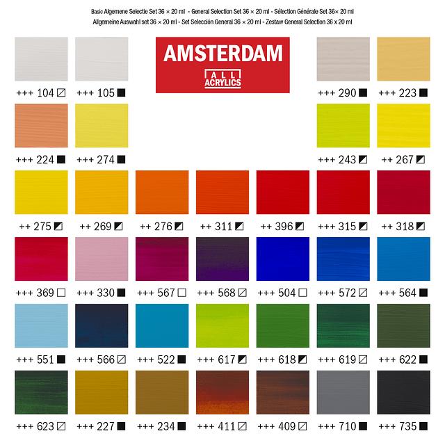 Amsterdam acrylverf Set 36 X20 ml