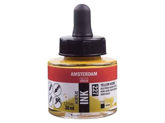 Acryl inkt Gele oker 227 - Amsterdam acrylic