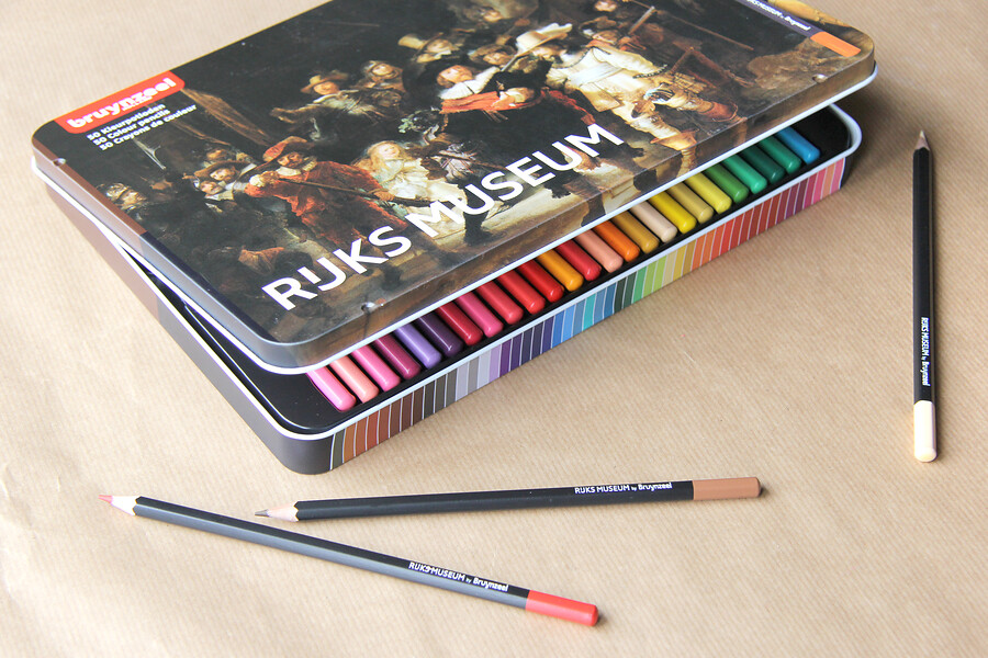 Box Nachtwacht Rembrandt 50 kleurpotloden