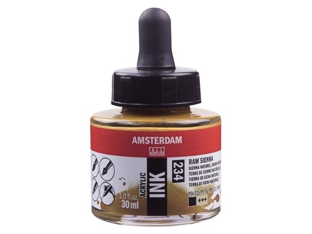 Acryl inkt Sienna naturel 234 - Amsterdam acrylic