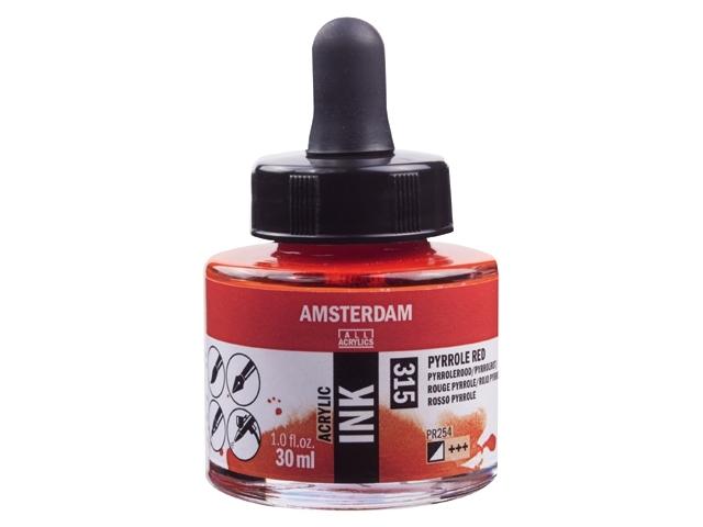 Acryl inkt Azo Pyrrolerood 315 - Amsterdam acrylic