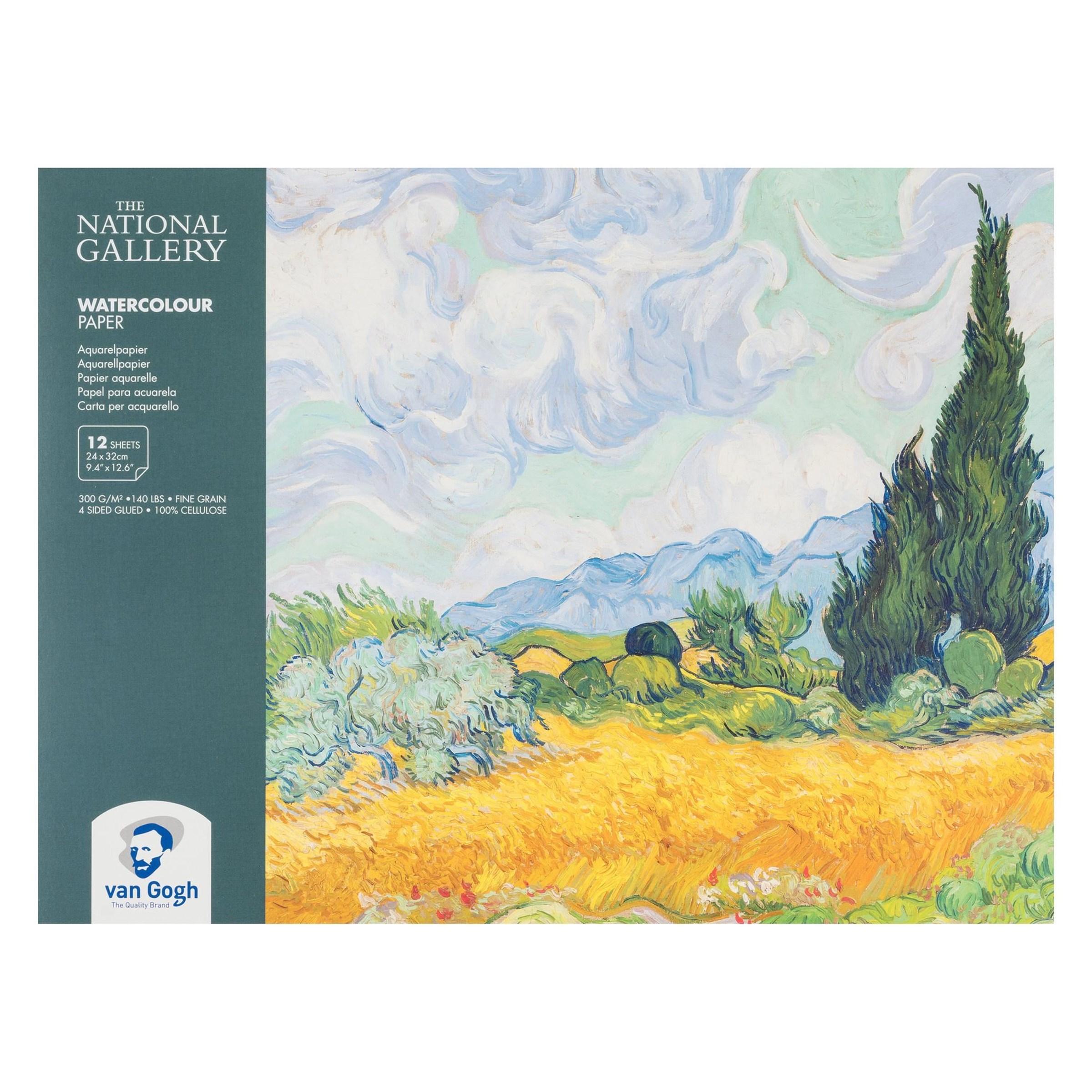 Aquarelverfpapier blok Van Gogh vij Angelart kunst en zo
