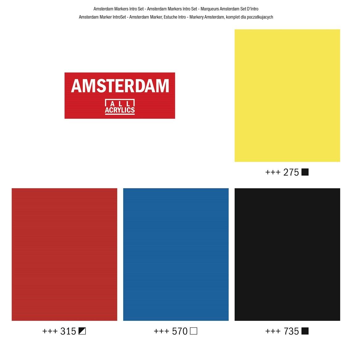 Acryl marker basisset 4 x 4 mm Amsterdam Talens