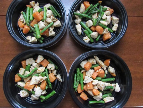 Meal Prep - Chicken, Sweet Potato, Asparagus Skillet