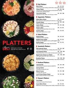platters menu
