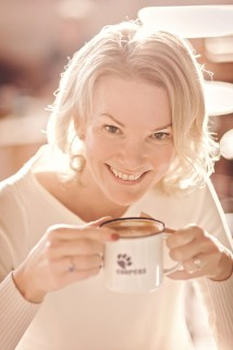 Angela Spang Coffee with milk at Coopers in marlow