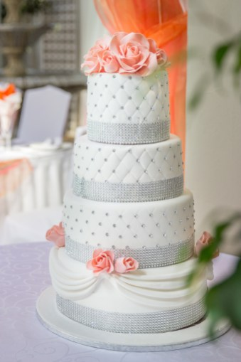 Wedding Cake Coral Silber