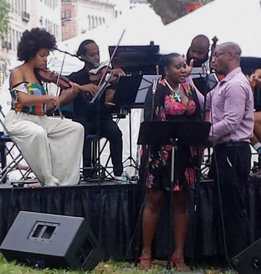 angela and charles with the quartet