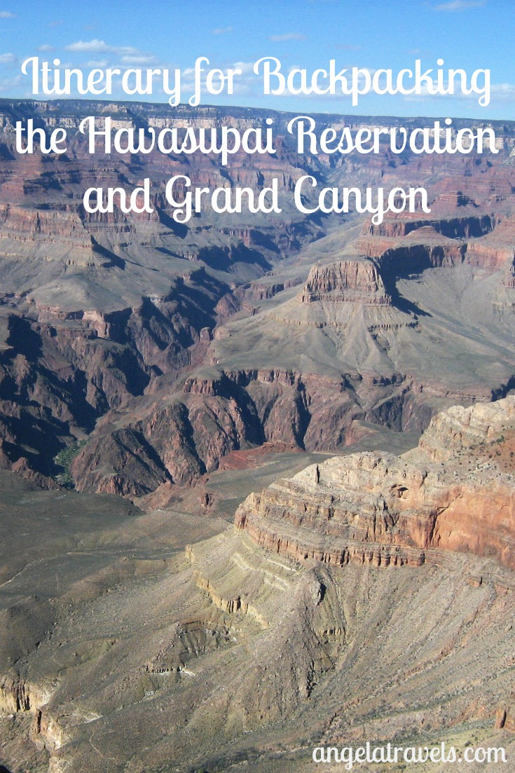 An Itinerary for Backpacking Havasupai Reservation and the Grand Canyon.