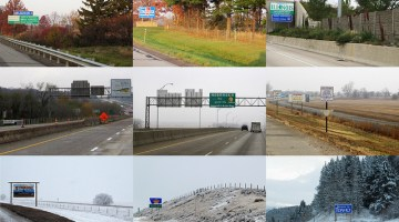 state road trip signs
