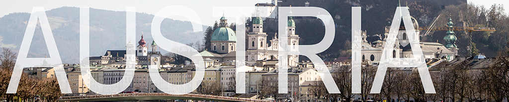 a banner that links to blog posts on austria