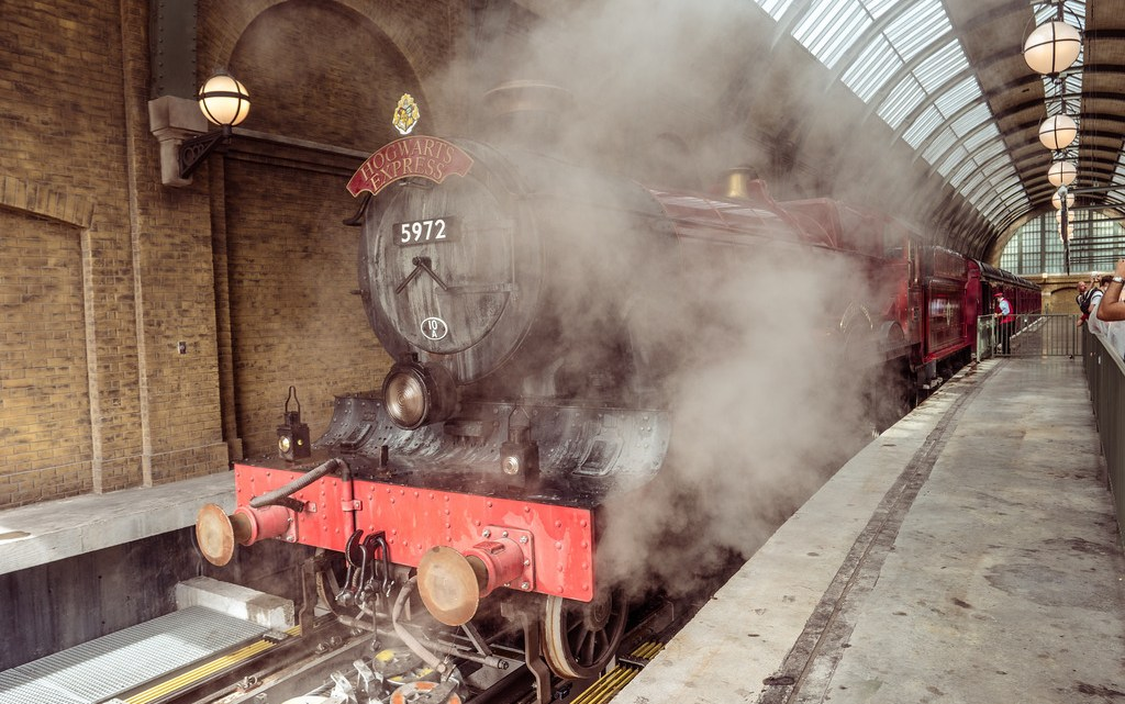The Hogswart Express at the Wizarding World of Harry Potter at Universal Studios