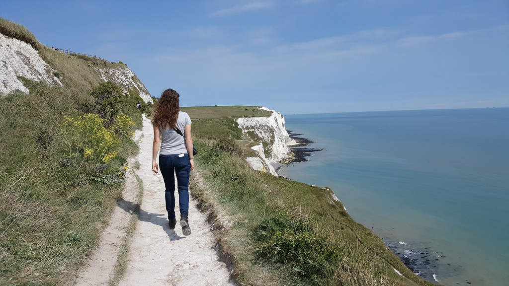 Walking along the White Cliffs of Dover