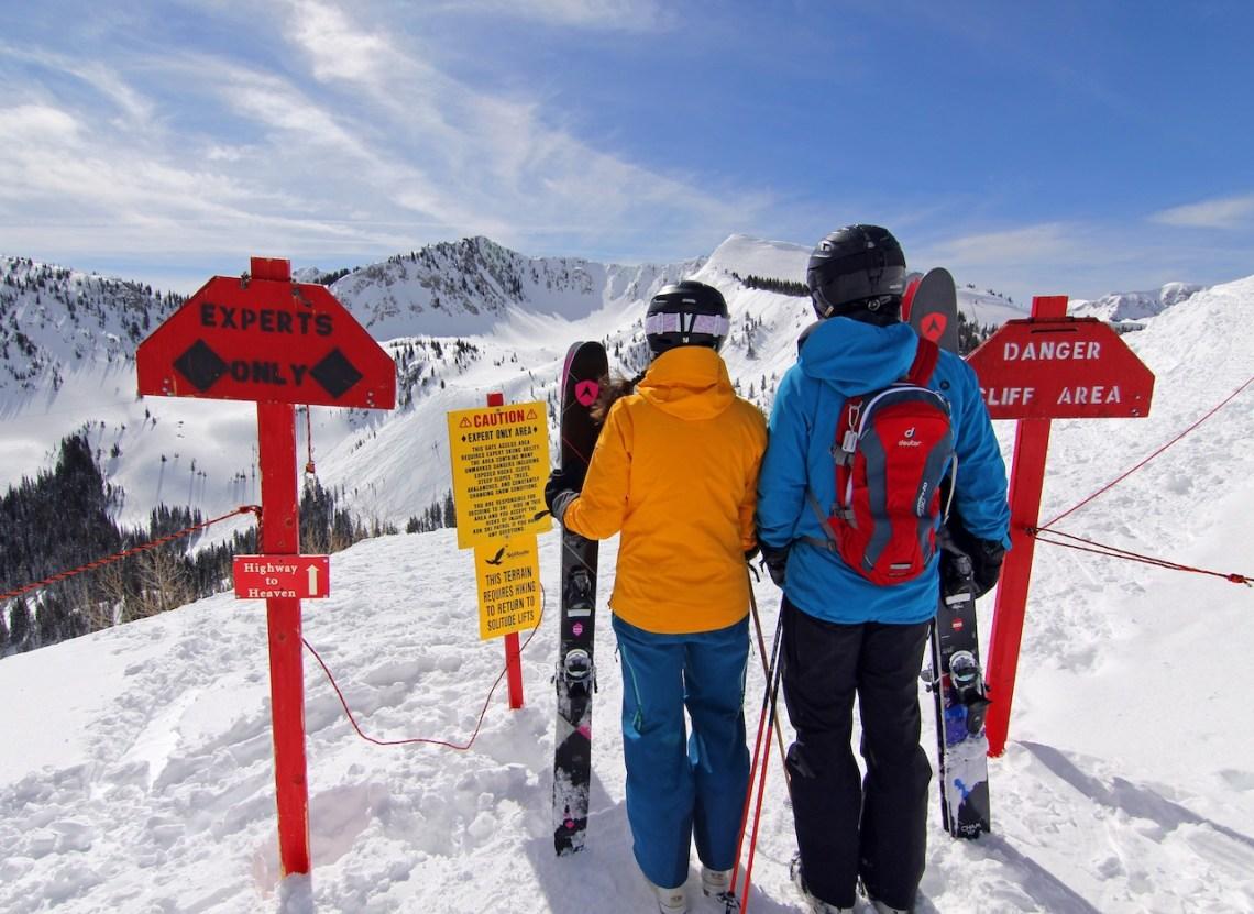 Skiing at Solitude resort with Dynastar skis