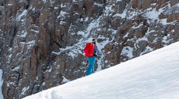Angela Travels skinning sidecountry at Kazakhstan Shymbulak