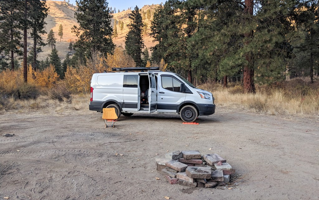 picture of a camper van on public land