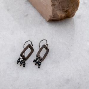 χειροποιητα κοσμηματα, σκουλαρικια, azteco-abel-black-2-angeldevil