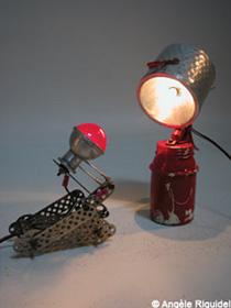 Lampe mécanique et vélo d'Angèle Riguidel
