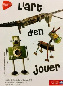 Affiche, Exposition l'Art d'en Jouer. Galerie Art et Liberté, Charenton