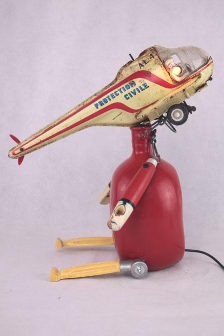 Sculpture jouet et objets vintage