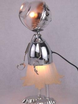Sculpture objets détournés lumineux