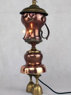 Sculpture objets détournés, cuivre
